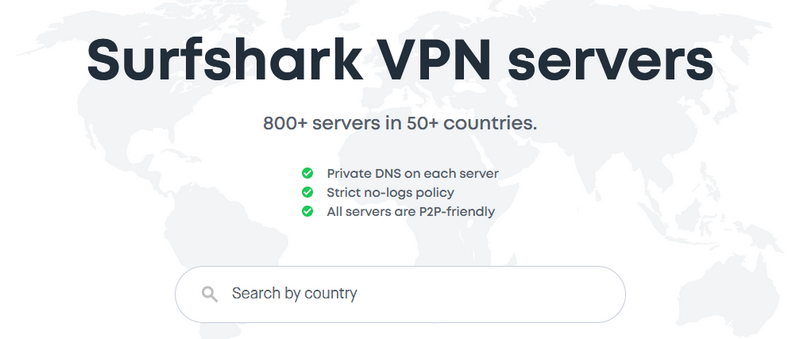 Surfshark - Servers