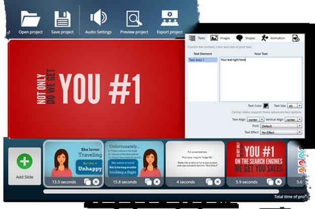 VideoMakerFX User Interface