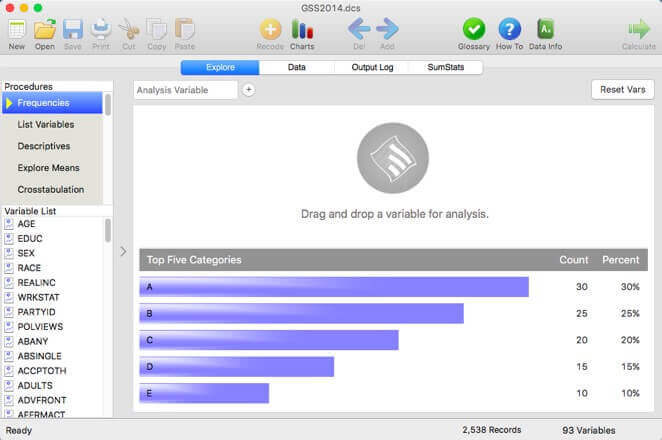 AcaStat - User Interface