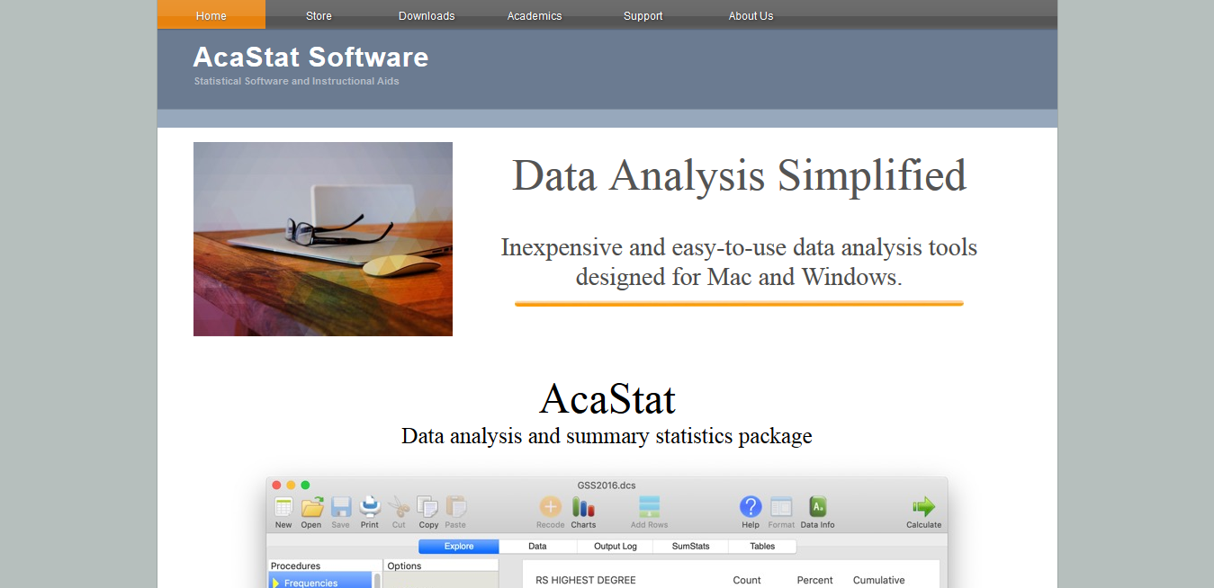Acastat User Interface