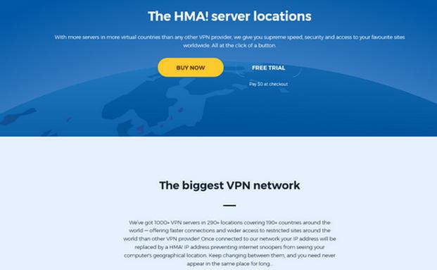 HideMyAss Server Location