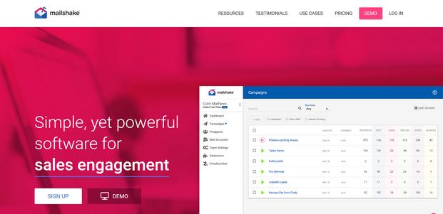 MailShake Homepage
