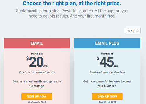 Constant Contact - Pricing