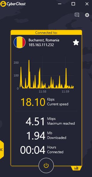 CyberGhost - PerformanceStats