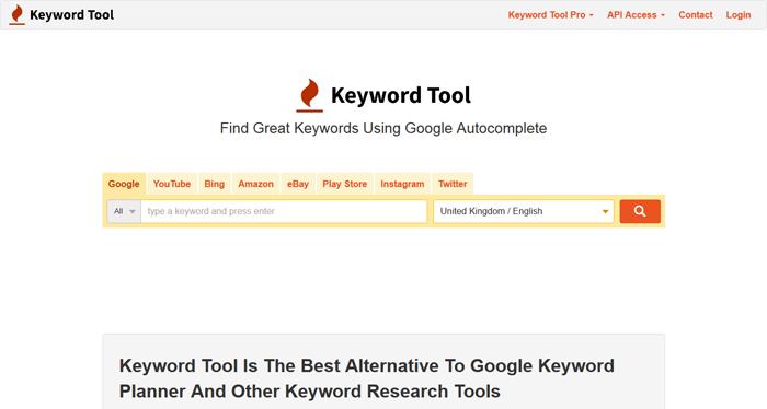 KeyWordTool.io - Home