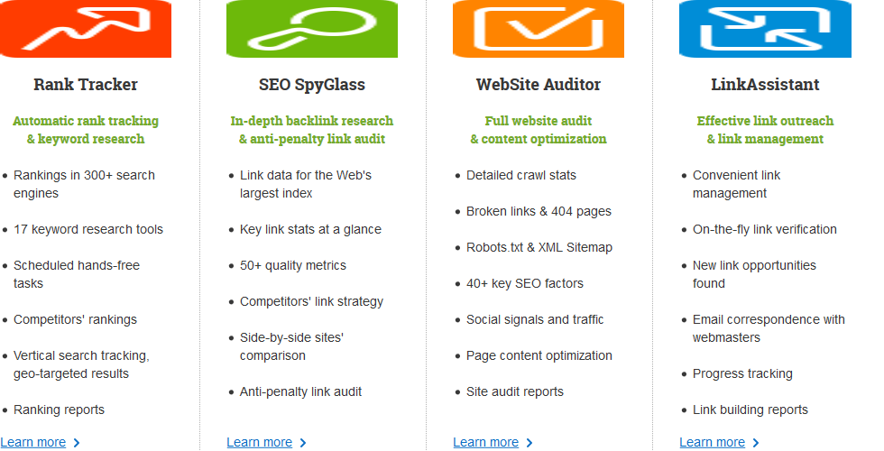 SEO PowerSuite Features