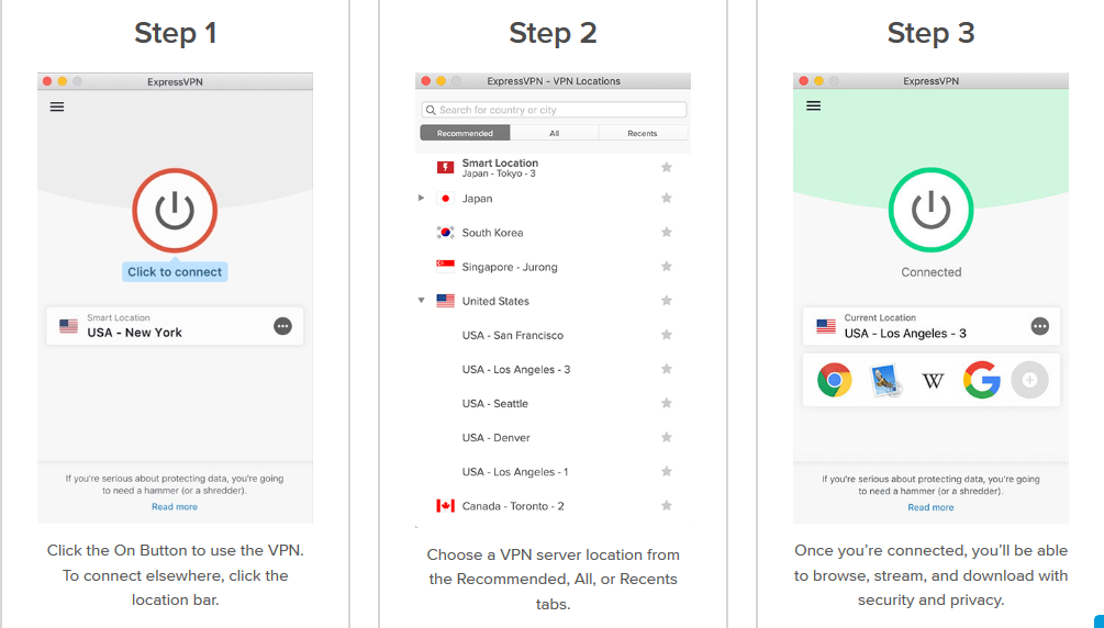 ExpressVPN - Choose Server