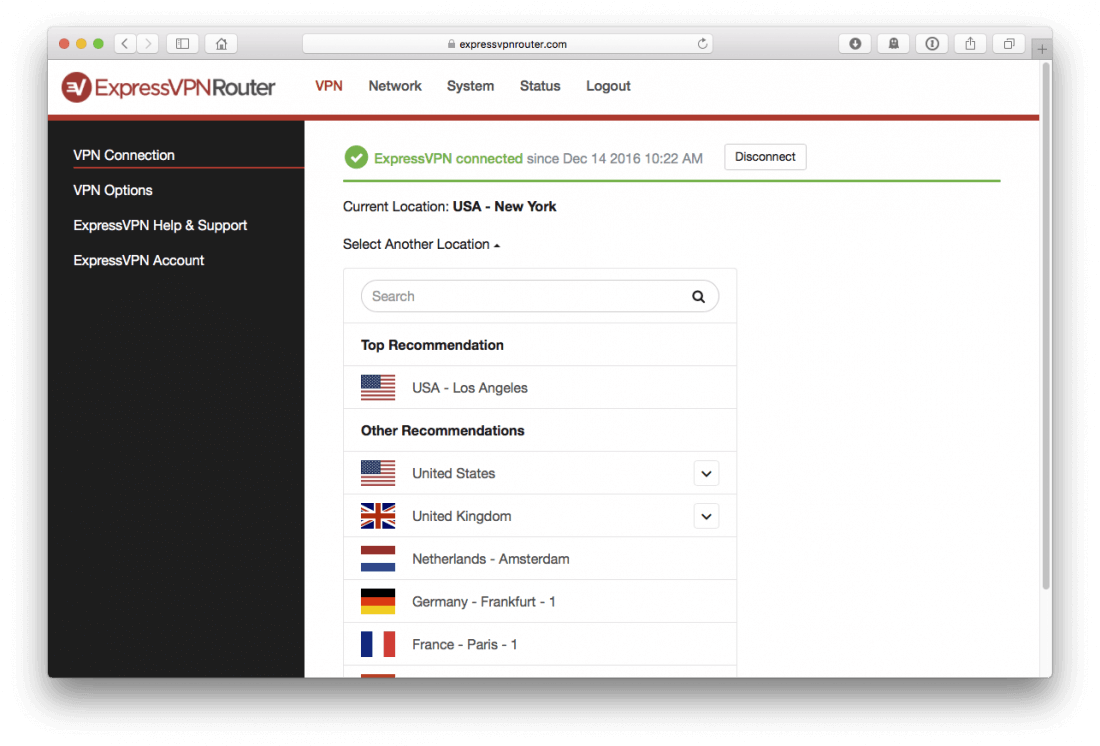 ExpressVPN - Connect Router
