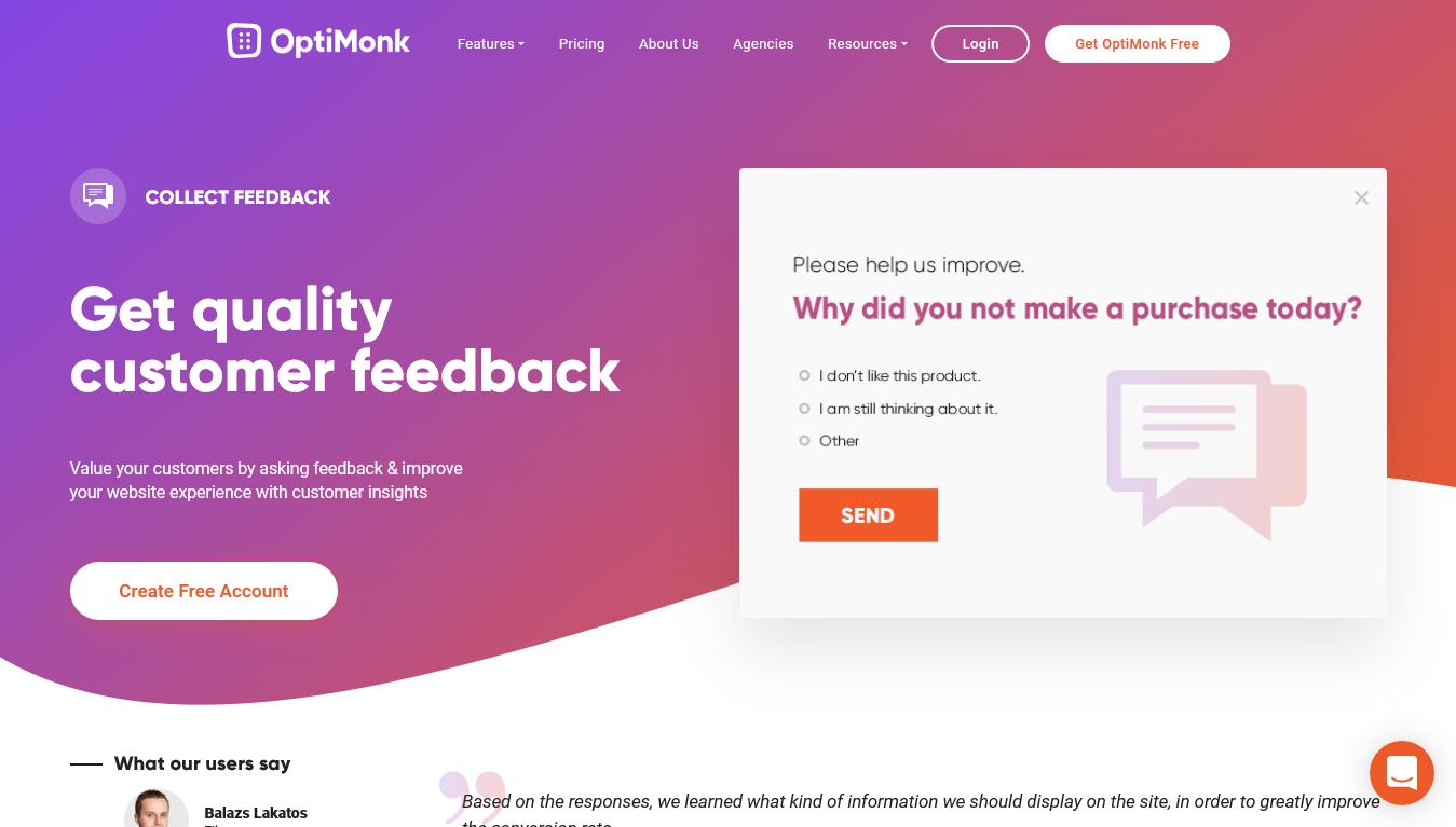 OptiMonk Feedback