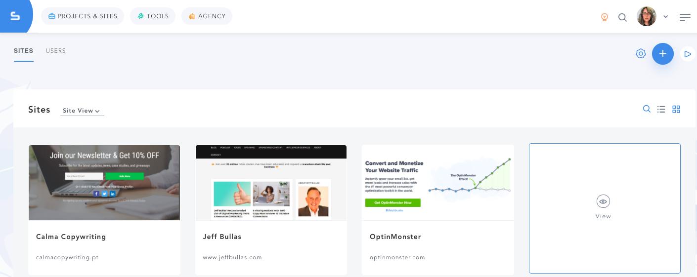 Agency Dashboard