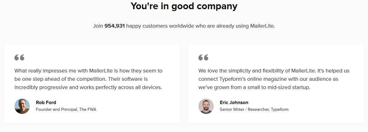 MailerLite Customer Reviews