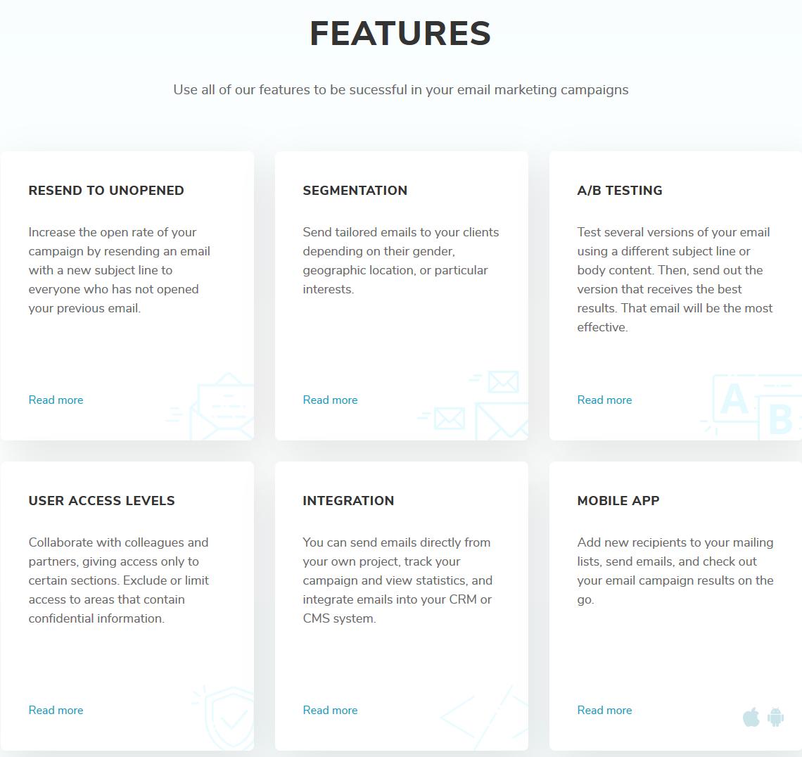SendPulse Features