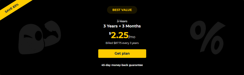 VPN - Deals - Cyberghost - Pricing