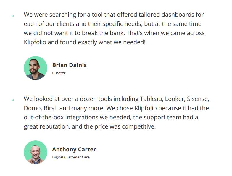 Klipfolio Success Stories