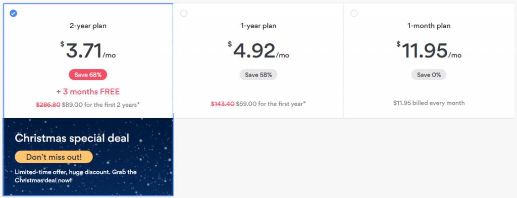 VPN - Deals - NordVPN - Pricing