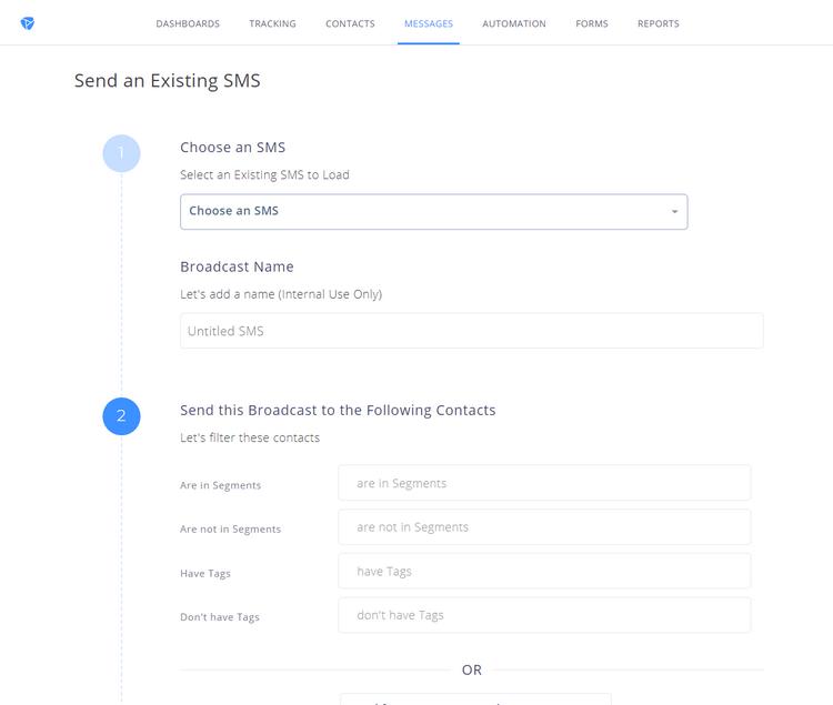 Platformly - SMS - Dashboard