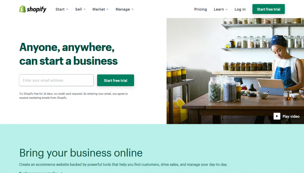 eCommerce - Shopify - Home