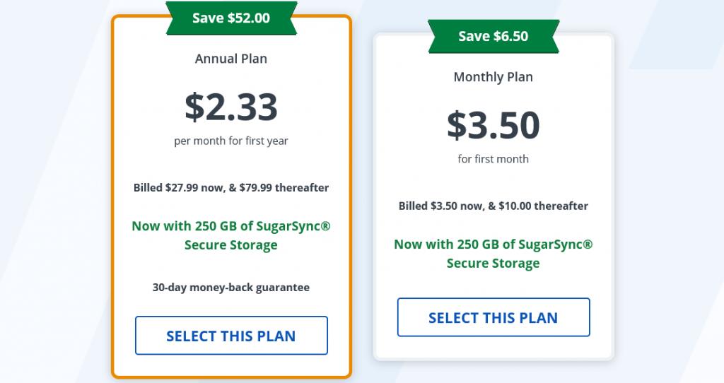 VPN - Deals - StrongVPN - Pricing