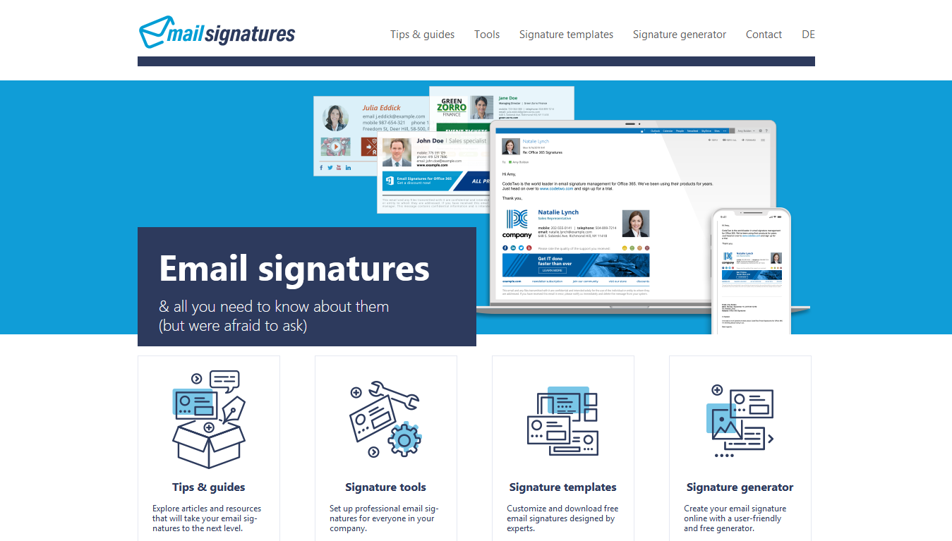 Mail Signatures Home