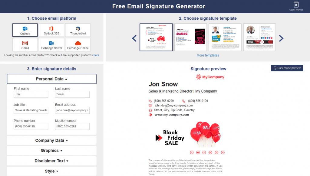 ESG - Mail - Signatures - Dashboard