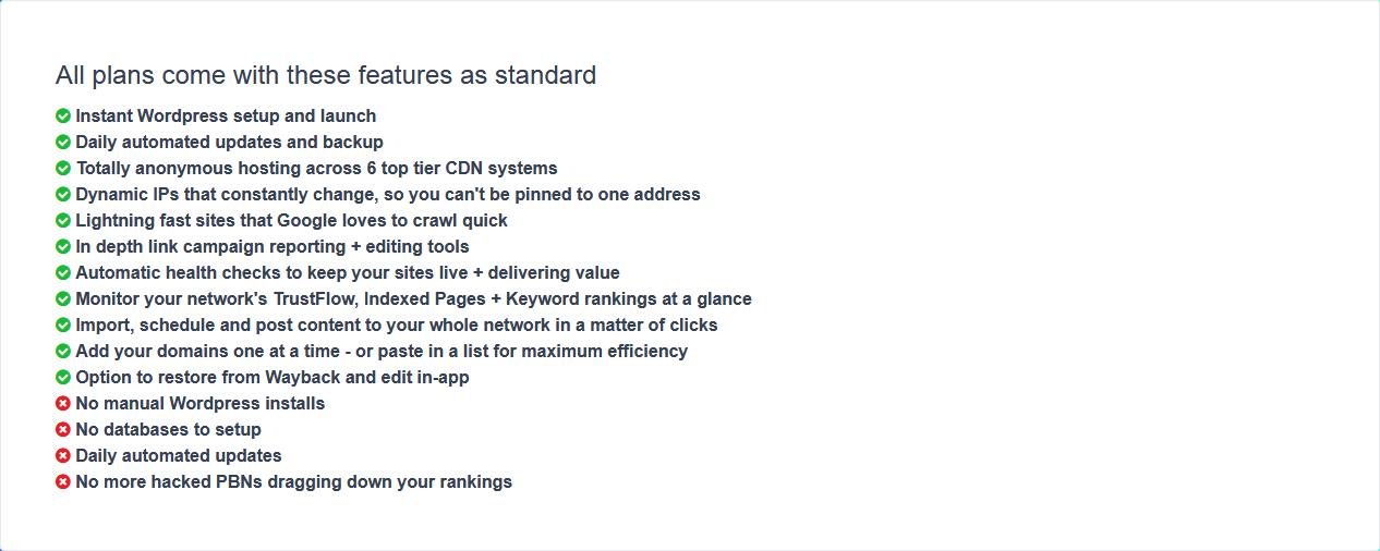 PBN.Hosting Standards