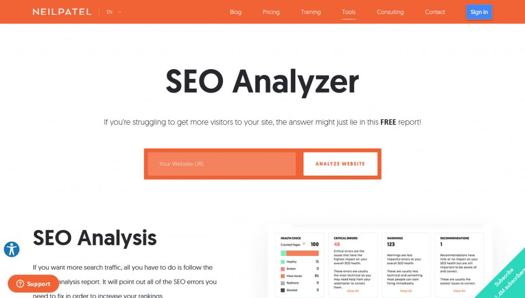 SEO - Analyzer - Home
