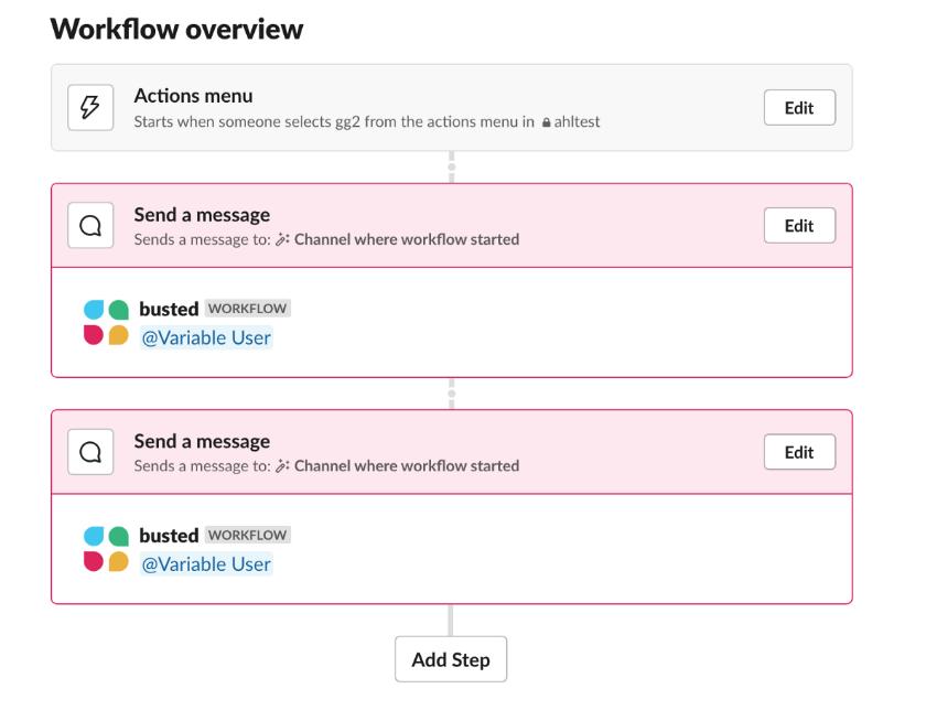 Slack - Workflow - Builder