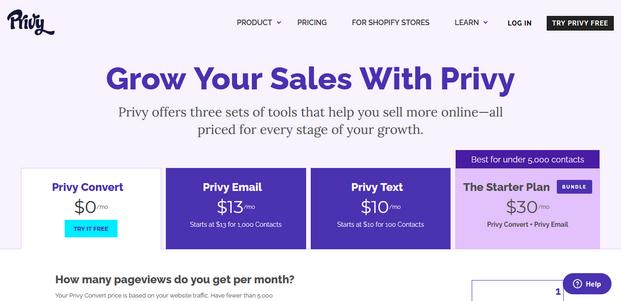 Privy - Pricing