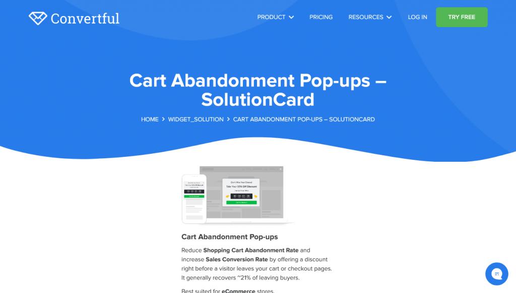 Convertful - Cart - Abandonment