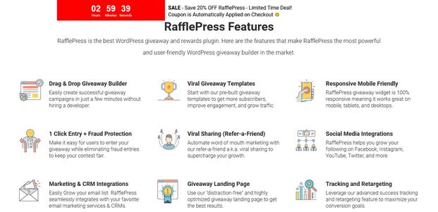 RafflePress - Features