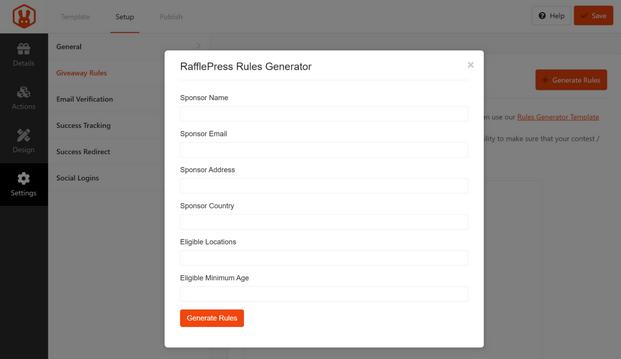 RafflePress - Rules Generator