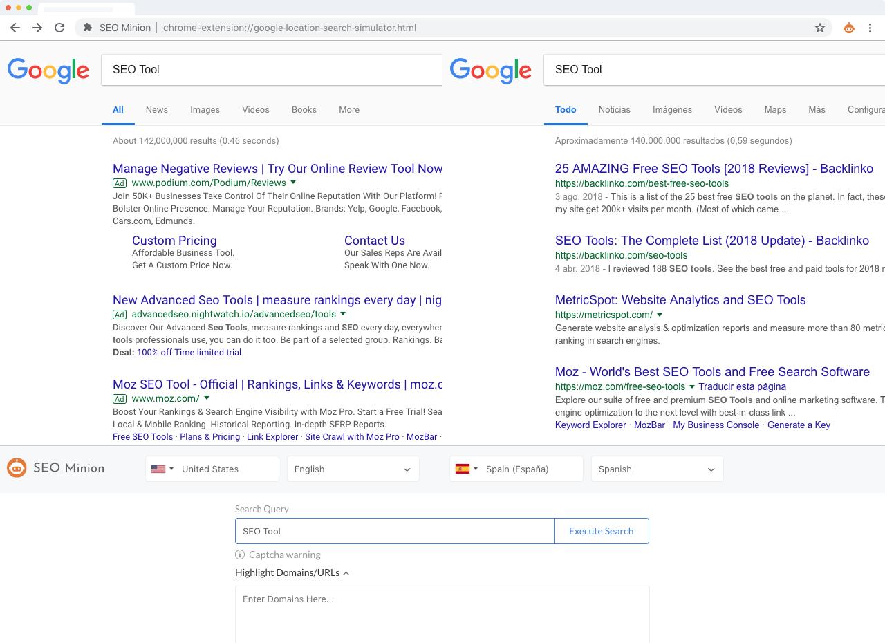 SEO Minion URL Analyzer