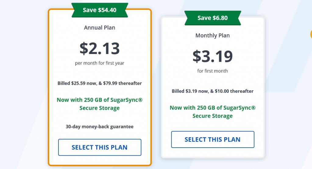 StrongVPN - Pricing