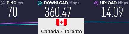 Surfshark-For-Netflix - Toronto-Speeds