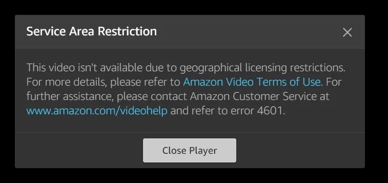 Vpn-For-Firestick - Amazon-Error-4601