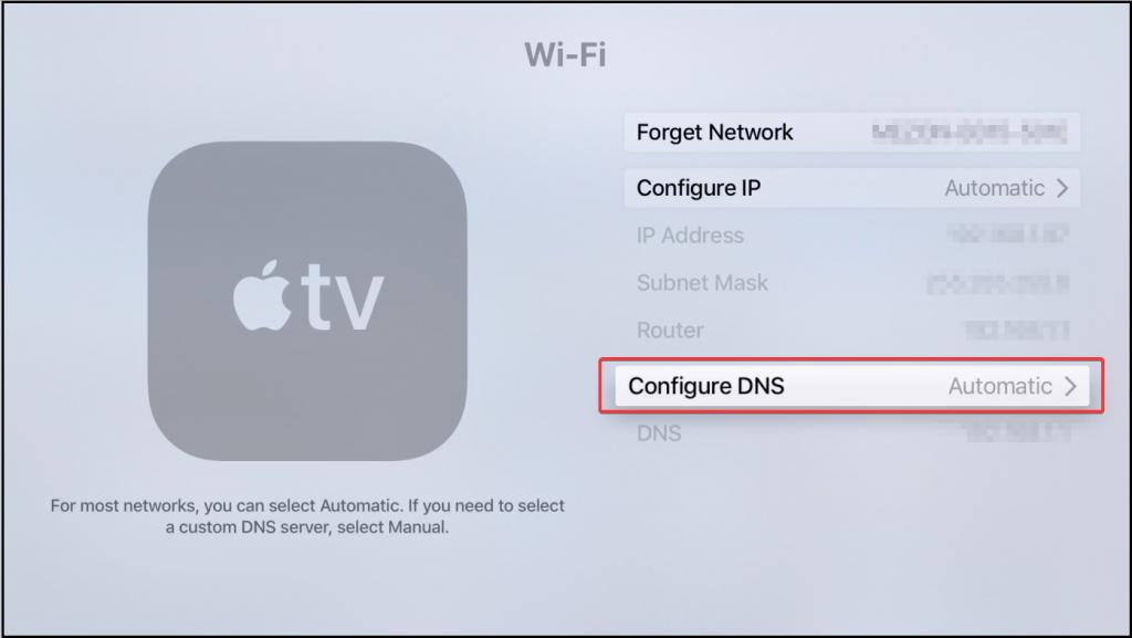 Surfshark-For-Apple-TV - Configure-DNS