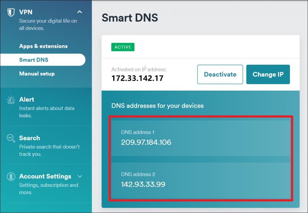 Surfshark-For-Apple-TV - Surfshark-Smart-DNS-Active